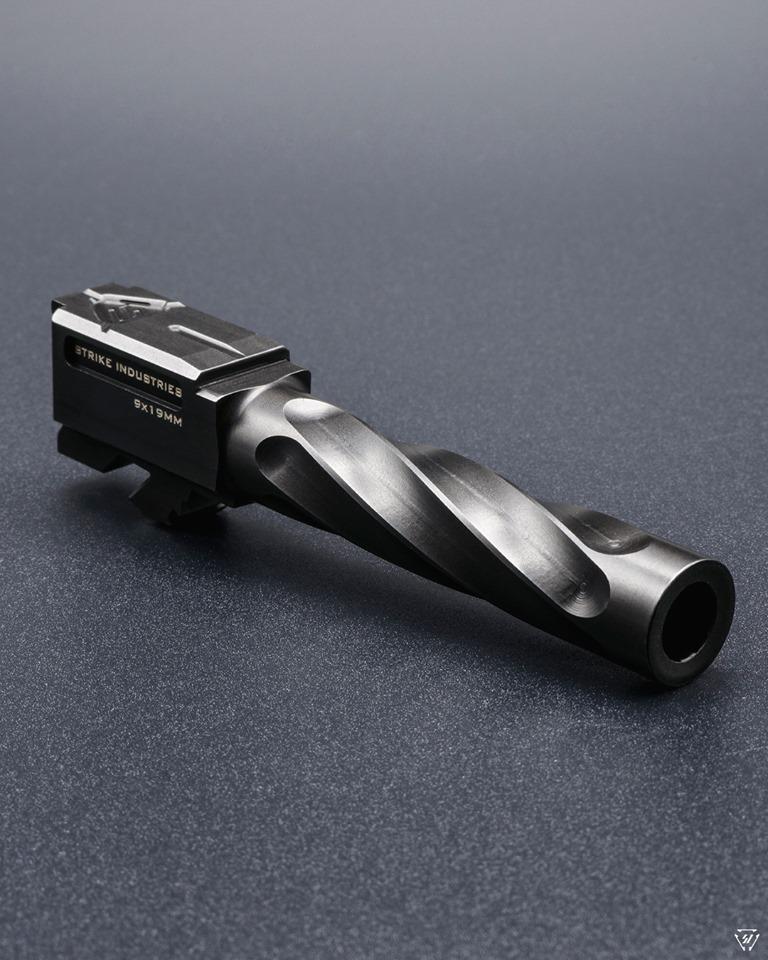 strike industries ARK g19 glock barrels spiral fluted glock pistol barrels 4