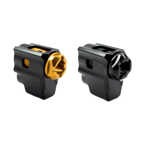 tyrant designs cnc glock 43 t-comp compensator for the glock 43 compensated glock 48 comp edc 1