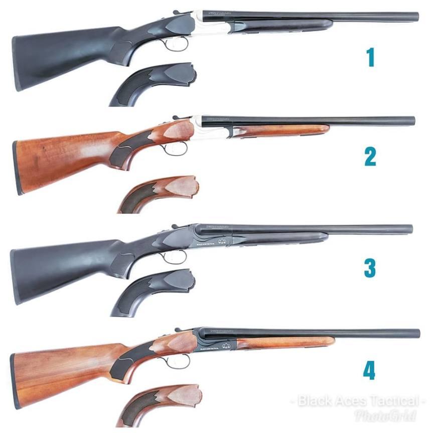 black aces tactical side by side shotgun gold trigger 1