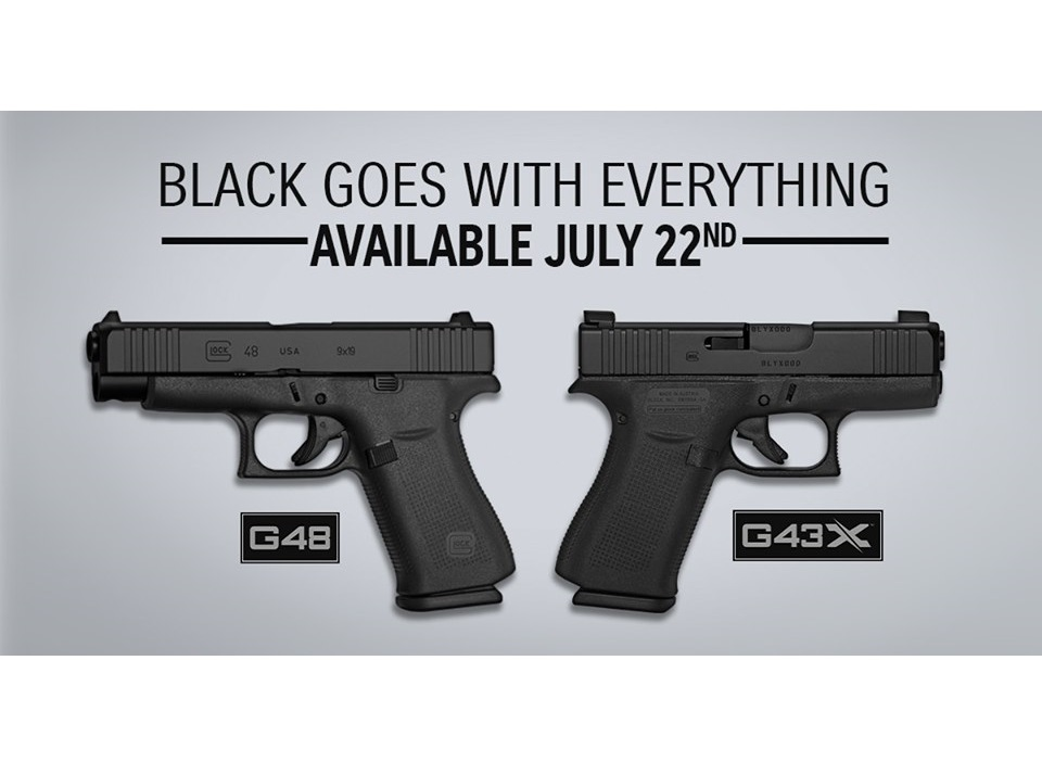 GLOCK OFFICIALLY ANNOUNCES THE G43X BLACK AND G48 BLACK PISTOLS!