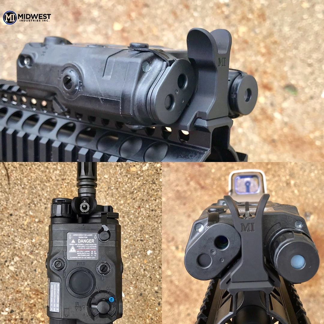 MIDWEST INDUSTRIES RELEASES NEW PEQ15 COMPATIBLE FRONT SIGHT!!