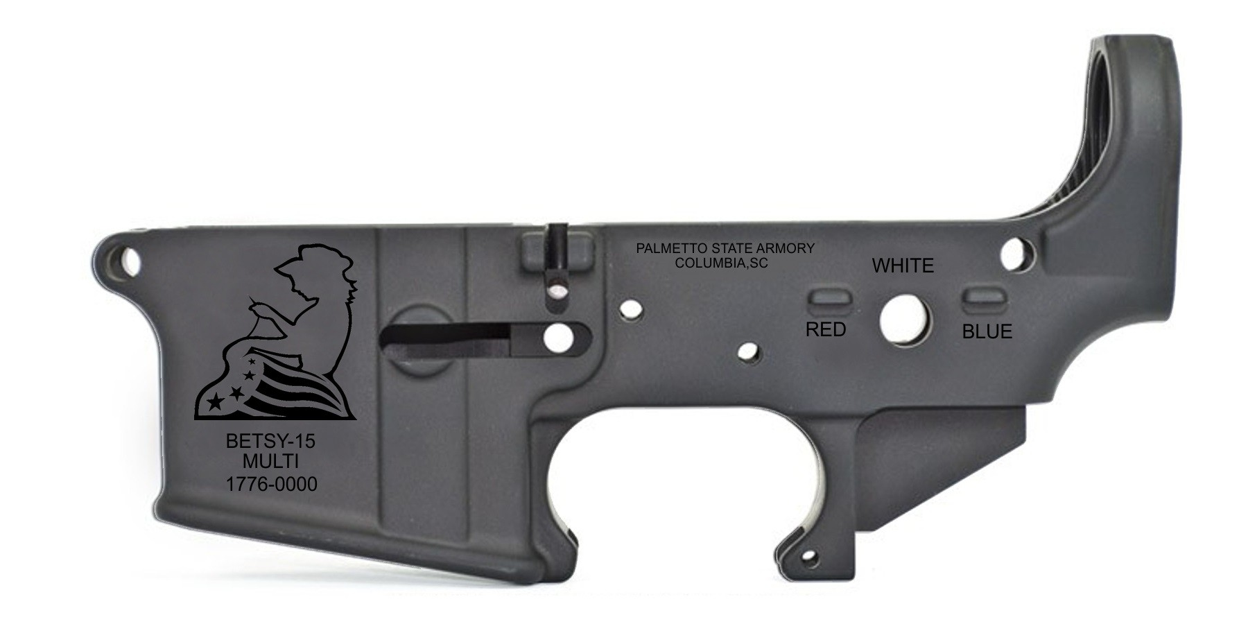 PALMETTO STATE ARMORY ANNOUNCES NEW BETSY ROSS ( BETSY-15) STRIPPED LOWER RECEIVERS!!