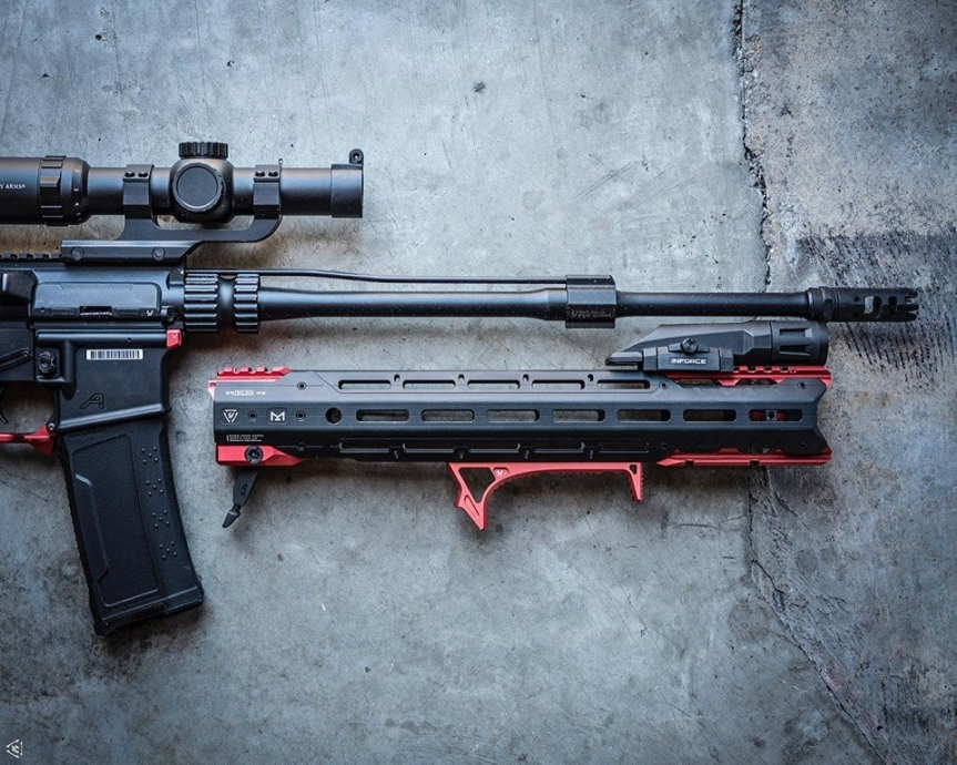strike industries GRIDLOCK ar15 handguards quick detach ar rail for cleaning and to switch handguards fast. 5