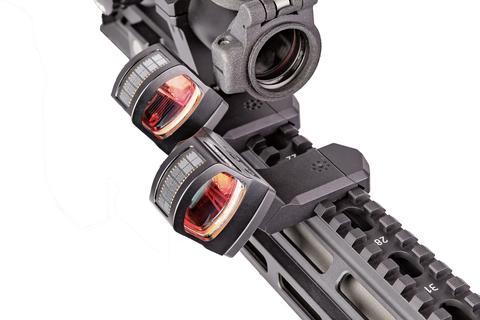 arisaka defense offset optic mount arisaka modular offset optic mount 45 degree rmr redot on the picatinny rail at 35 degrees 2