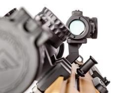 arisaka defense offset optic mount arisaka modular offset optic mount 45 degree rmr redot on the picatinny rail at 35 degrees