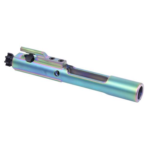 guntec usa ar15 pvd rainbow bolt carrier groups that are tin coated gold ar15 bcg 1