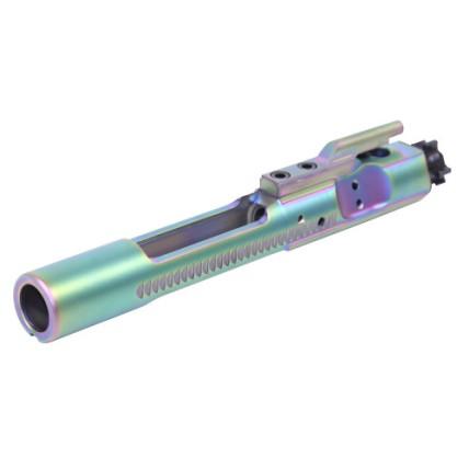 guntec usa ar15 pvd rainbow bolt carrier groups that are tin coated gold ar15 bcg