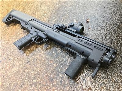 midwest industries keltec ksg mlok mount handstop for the ksg shooting off your hand with ksg. MI-KSG-MM MI-KSG-MM